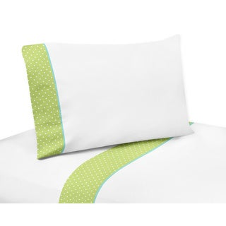 Sweet Jojo Designs Sheet Sets for Turquoise and Lime Hooty Owl Bedding Collection