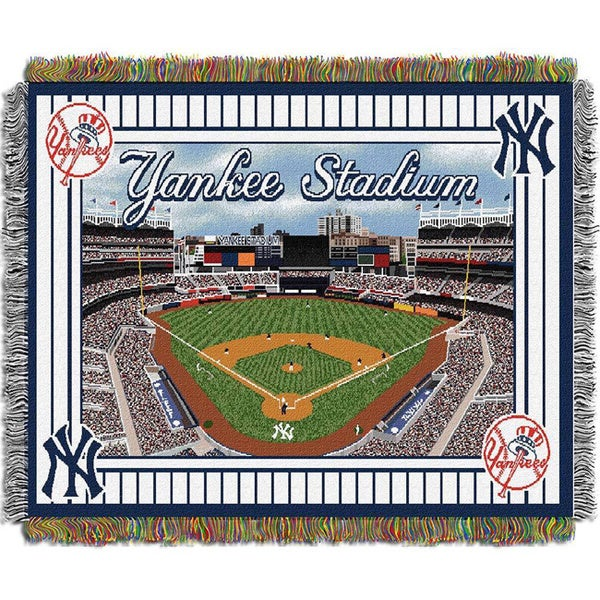 MLB Stadium Woven Tapestry Throw 12004870