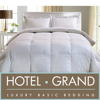 Hotel Grand 1000 Thread Count Egyptian Cotton Oversized White Goose Down Comforter