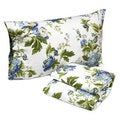 Tribeca Living Floral Bouquet Printed Deep Pocket Flannel Sheet Set