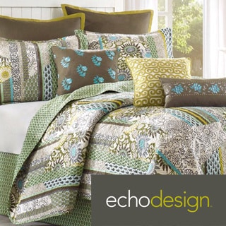 Echo Brand Boho Chic Coverlet with Optional Sham Separates