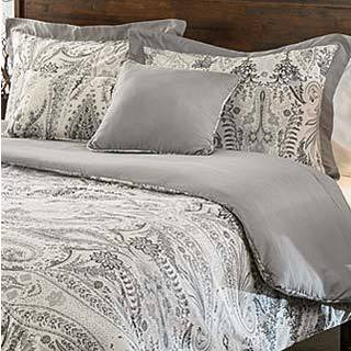 Comosetti Griffen Grey Paisley Reversible Cotton 5-piece Comforter Set