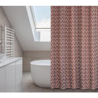 Metro Rustic Red Tones 14-piece Shower Curtain Set