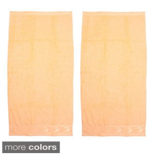 Jacquard Border Solid Terry Beach Towel (Set of 2)