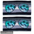 Sunglasses Design Beach Towels (Set of 2)