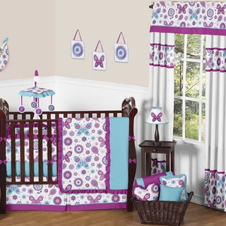 Sweet JoJo Designs Spring Garden 9-piece Crib Bedding Set