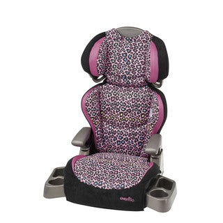 Evenflo Big Kid LX Booster Car Seat in Neon Leopard