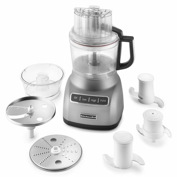 KitchenAid KFP0922CU Contour Silver 9-cup Food Processor