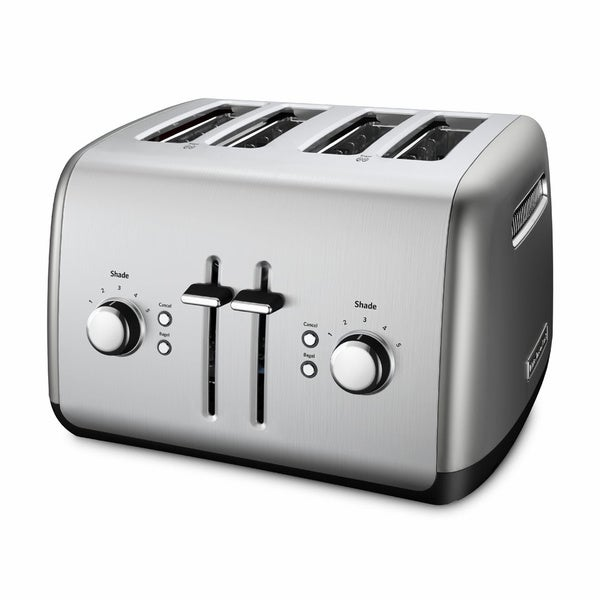 KitchenAid KMT4115CU Silver 4 Slice Metal Toaster