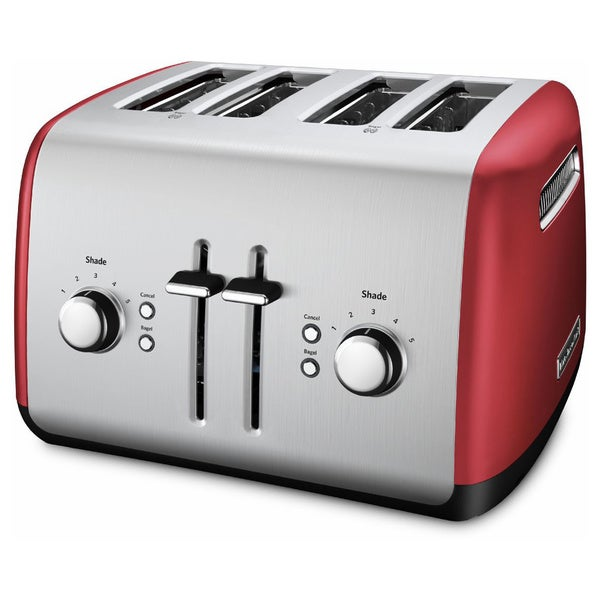 KitchenAid KMT4115ER Red 4 Slice Metal Toaster