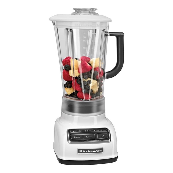 KitchenAid KSB1575WH White 5-Speed 60-oz Diamond Blender