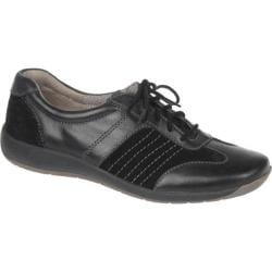 Women's Naturalizer Barnett Black Mirage Leather/Oil Velour Suede