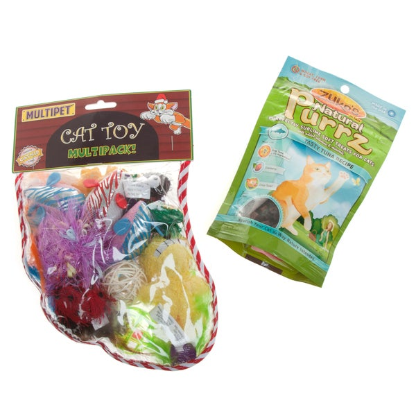 Cat Treats 'n Toys Gift Set for Cats
