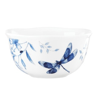Lenox 'Butterfly Meadow' Toile Blue 4-piece Dessert Bowl Set