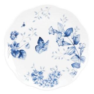 Lenox 'Butterfly Meadow' Toile Blue 4-piece Dessert Plate Set