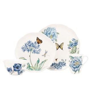 Lenox 'Butterfly Meadow' Blue 4-piece Dinnerware Place Setting