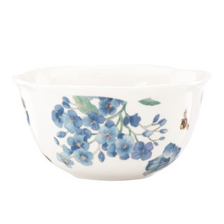 Lenox 'Butterfly Meadow' Blue 4-piece Dessert Bowl Set