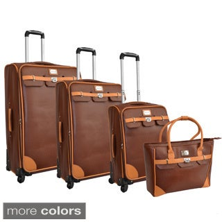 Adrienne Vittadini London Bridge 4-Piece Fashion Spinner Luggage Set