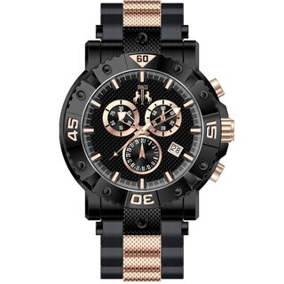 Jivago Men's Titan Black/ Rose Chronograph Watch