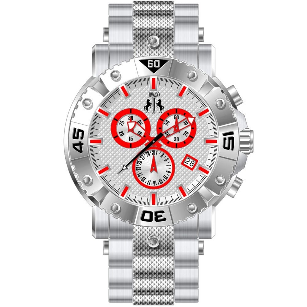 Jivago Men's Titan Silver Chronograph Watch at Sears.com