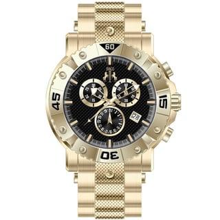 Jivago Men's Titan Black Chronograph Watch
