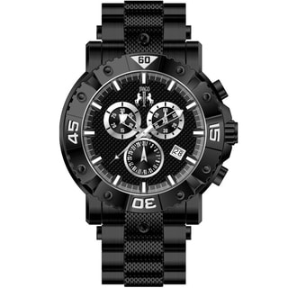 Jivago Men's Titan Black/ Black Chronograph Watch