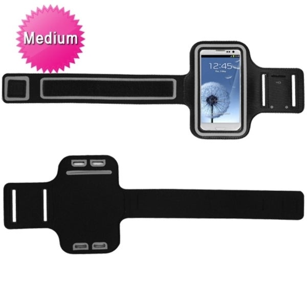 INSTEN Black Universal Vertical Sport Armband Phone Case Cover
