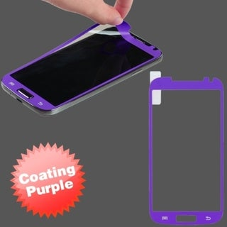 BasAcc Purple Coating Screen Protector for Samsung Galaxy S4