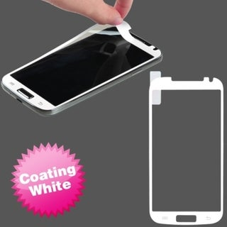 BasAcc White Coating Screen Protector for Samsung Galaxy S4