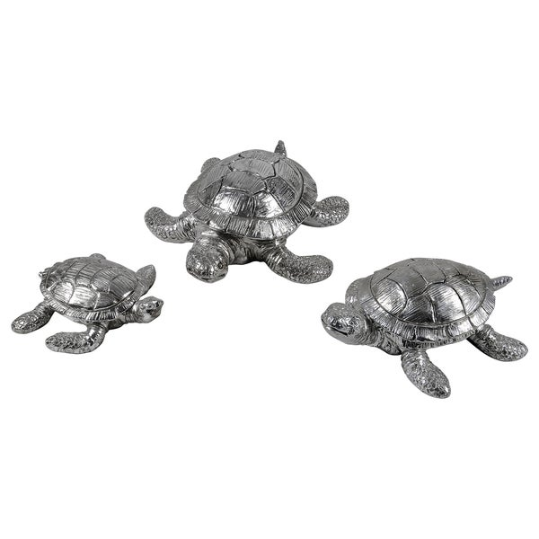 Turtle Family Statue Set