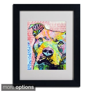 Dean Russo 'Thouthful Pittbull II' Framed Matted Art