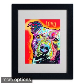 Dean Russo 'Thoughtful Pitbull' Framed Matted Art
