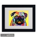 Dean Russo 'Pug' Framed Matted Art