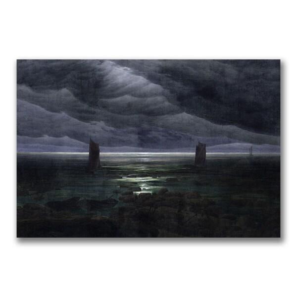 Caspar Friedrich 'Sea Shore in Moonlight' Canvas art