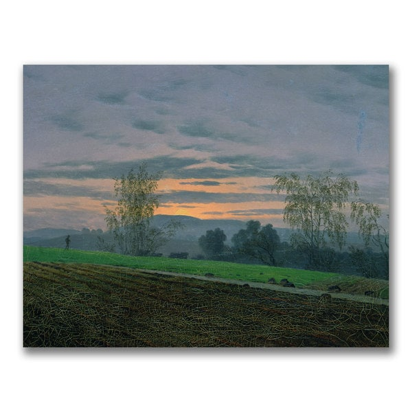 Caspar Friedrich 'Ploughed Field' Canvas art