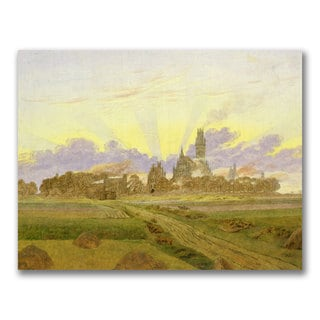Caspar Friedrich 'Dawn at Neubrandenburg' Canvas art