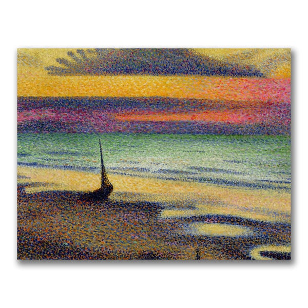 George Lemmen 'The Beach at Heist' Canvas Art