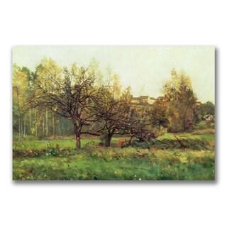 Charles Daubigny 'Autumn Landscape' Canvas Art