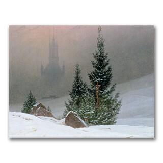 Caspar Friedrich 'Winter Landscape' Canvas Art