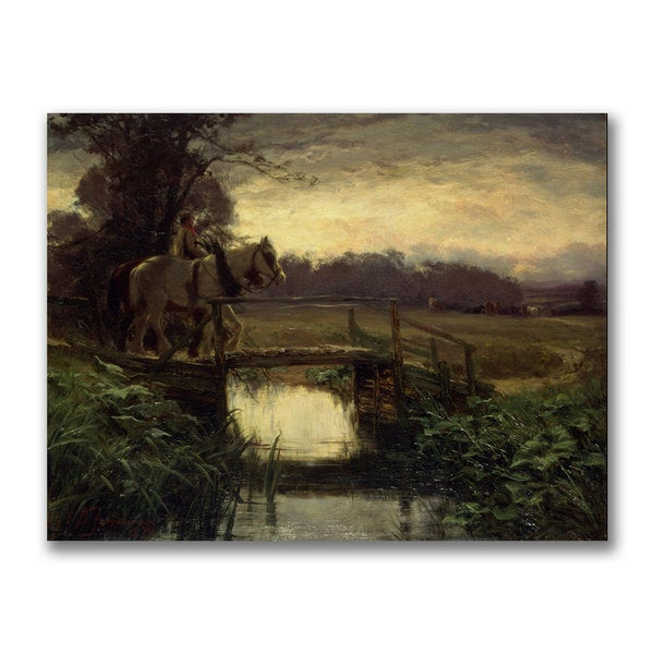 David Farquharson 'Grey Morning' Canvas Art