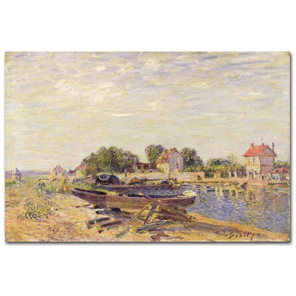 Alfred Sisley 'The Loing at Saint-Mammes II' Canvas Art