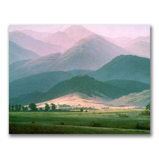 Caspar Friedrich 'Landscape in the Riesengebirge' Canvas Art