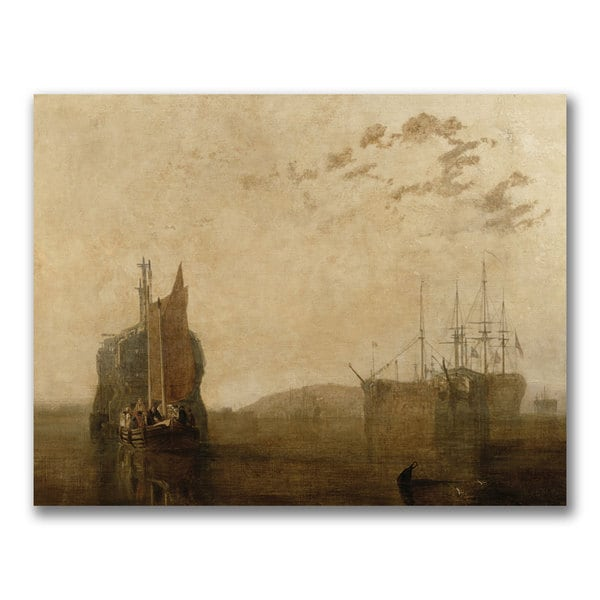 Joseph Turner 'Hulks on the Tamar' Canvas Art