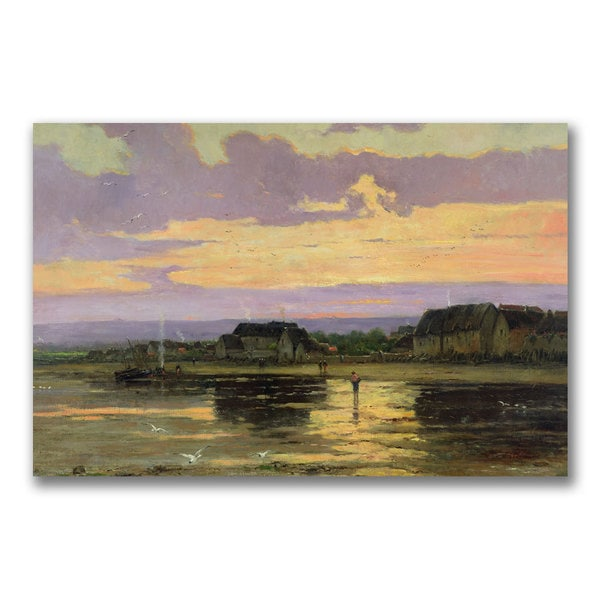 Marie Iwill 'Solitude in the Evening' Canvas Art