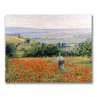 Leon Giran Max 'Woman in a Poppy Field' Canvas Art