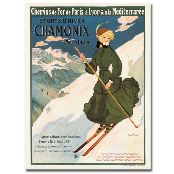 Unknown 'SNF Routes to Chamonix' Canvas Art