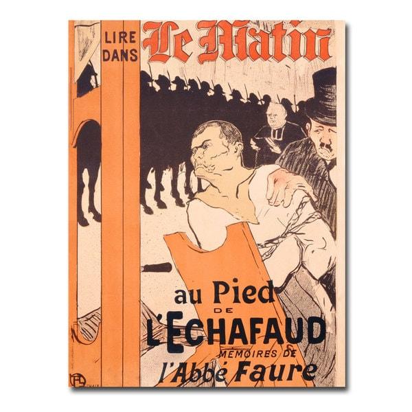 Henri Tolouse Lautrec 'L'Abbe Faure dans Le Matin' Canvas Art