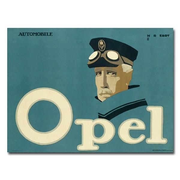 Hans Rudi Erdt 'Opel' Canvas Art