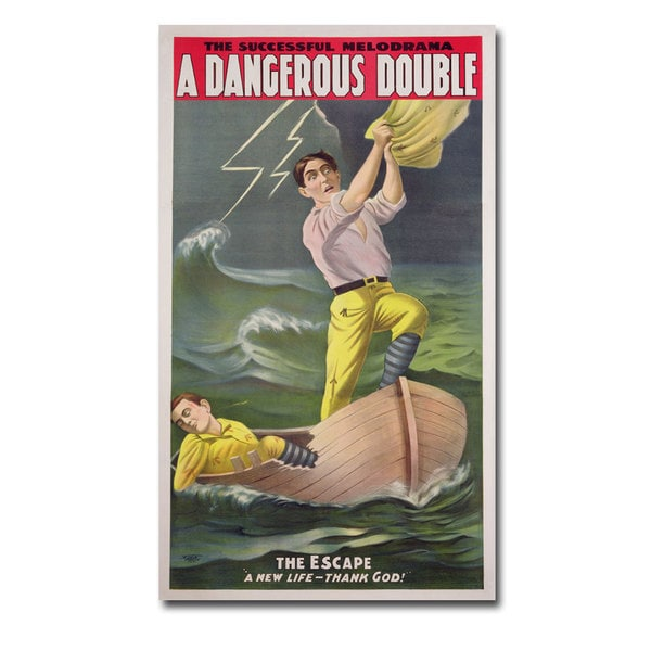 Unknown 'A Dangerous Double' Canvas Art