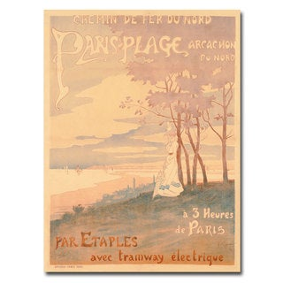 Unknown 'Trains to Paris-Plage' Canvas Art